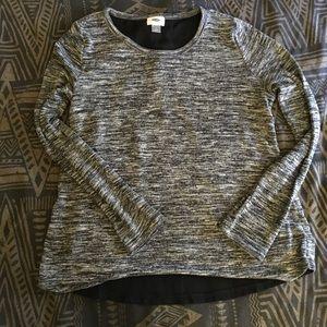H&M open back long sleeve shirt